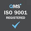ISO 9001 registered grey