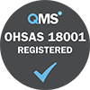 OHSAS 18001 registered grey